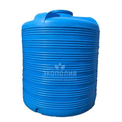 Емкость круглая вертикальная V-8000 (голубая)