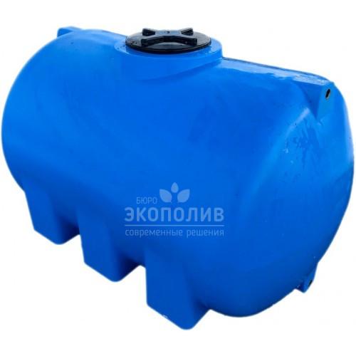 Емкость круглая горизонтальная G-1500 (голубая)