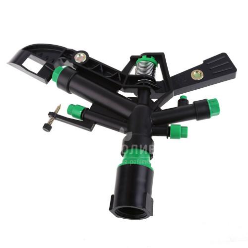 Дождеватель импульсный, круговой 1″ ВР( 5 форсунок) Green Helper