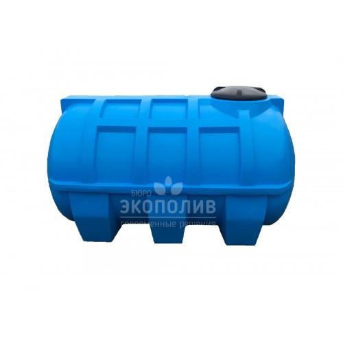 Емкость круглая горизонтальная G-2000 (голубая)